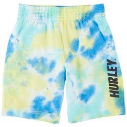 Hurley Little Boys Tie Dye Logo Print Pull On Shorts