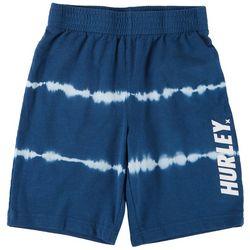 Hurley Little Boys Tie Dye Logo Pull On Shorts