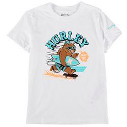 Hurley Little Boys Surfing Bear T-Shirt