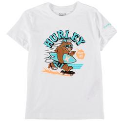 Little Boys Surfing Bear T-Shirt