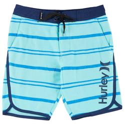 Big Boys Striped Terry Boardshorts