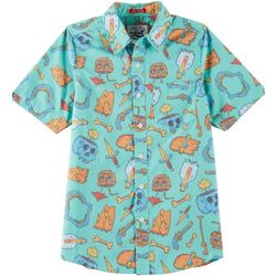 Lost Big Boys Button Down Broken Dreams Shirt
