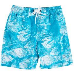 Reel Legends Little Boys Morning Frost Swim Shorts
