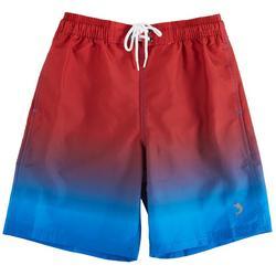 Little Boys Ombre Swim Shorts