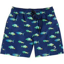 Reel Legends Little Boys Fish Swim Shorts