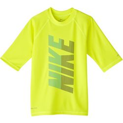 Nike Big Boys Short Sleeve Hydroguard Rashguard