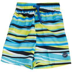 Speedo Big Boys Abstract Stripe Volley Shorts
