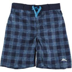 Tommy Bahama Little Boys Checkered Swim Trunks