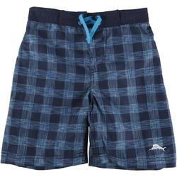 Little Boys Checkered Swim Trunks