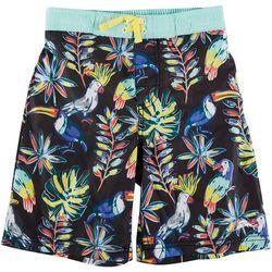 Tommy Bahama Little Boys Tropical Birds Swim Trunks