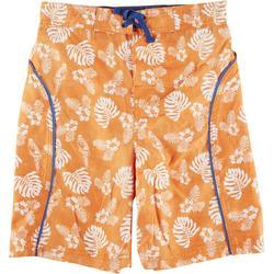Big Boys Palm Leaf Swim Trunks