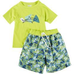 Little Boys 2-pc. Shark Rashguard Set