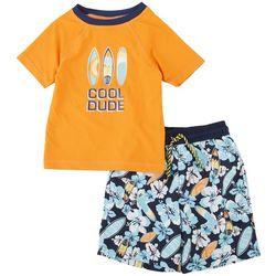 Floatimini Little Boys 2-pc. Cool Dude Rashguard Set