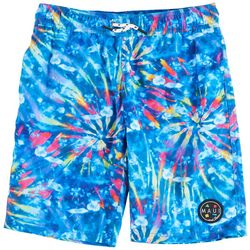 Maui & Sons Big Boys Tie Dye Pool Swim Trunks