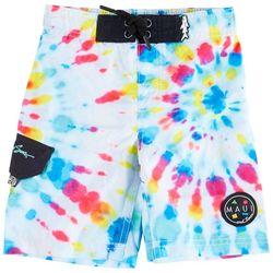Maui & Sons Little Boys Tie Dye Boardshorts