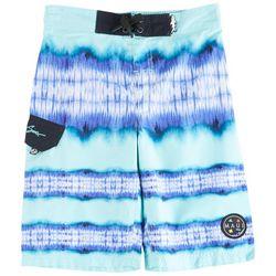 Maui & Sons Big Boys Stripe Tie Dye Boardshorts