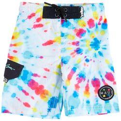 Maui & Sons Big Boys Tie Dye Boardshorts