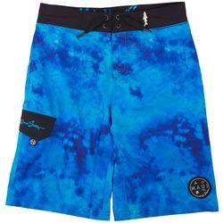 Maui & Sons Big Boys Water Tie Dye Boardshorts