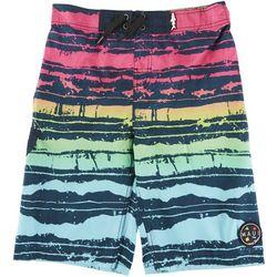Maui & Sons Little Boys Striped Boardshorts