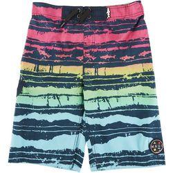 Maui & Sons Big Boys Striped Boardshorts