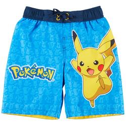 Pokemon Little Boys Pikachu Swim Shorts