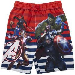 Little Boys Avengers Character Swim Trunks