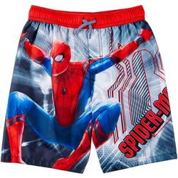 Spider-Man Little Boys Spider-Man Far From Home Swim Trunks