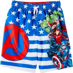 Marvel Avengers Little Boys Avengers Swim Trunks