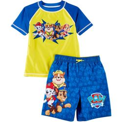 Paw Patrol Little Boys 2-pc. Paw Patrol Team Rashguard Set
