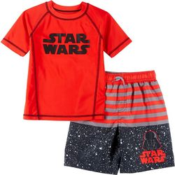Little Boys 2-pc. Darth Vader Rashguard Set