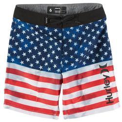 Little Boys Americana Boardshorts