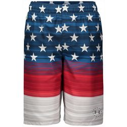 Under Armour Big Boys UA Freedom Striped Volley Boardshorts