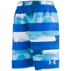 Under Armour Big Boys Stripe Watercolor Volley Swim Trunks