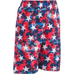 Big Boys Tie Dye Star Print Volley Swim Trunks