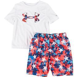 Little Boys 2-pc. Star Swim Set