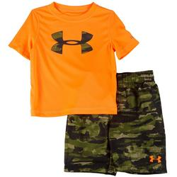Little Boys 2-pc. Camo Swim Set