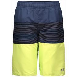 Big Boys Colorblock Stripe Swim Trunks