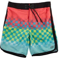 Ocean Current Big Boys Checker Fade Volley Swim Shorts