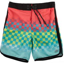 Big Boys Checker Fade Volley Swim Shorts