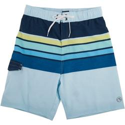 Big Boys Flicker Stripe Volley Swim Shorts