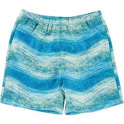 Little Boys Electric Shark Swim Shorts
