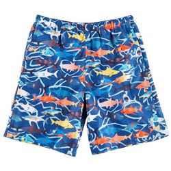 Reel Legends Little Boys Sarasota Shark Swim Shorts