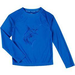 Reel Legends Little Boys Solid Marlin Rashguard