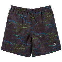 Big Boys Pointillism Wave Swim Shorts