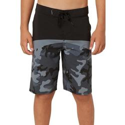 Big Boys Black Camo Boardshorts