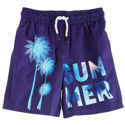 Little Boys Summer Palms Boardshorts