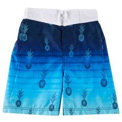Tommy Bahama Big Boys Colorblock Pineapple Swim Trunks
