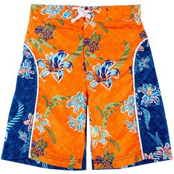Tommy Bahama Big Boys Colorblock Floral Swim Trunks