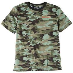 Bleached Big Boys Camo Print T-Shirt