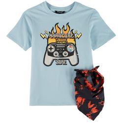 Big Boys Hardcore Gaming Zone T-Shirt & Bandana
